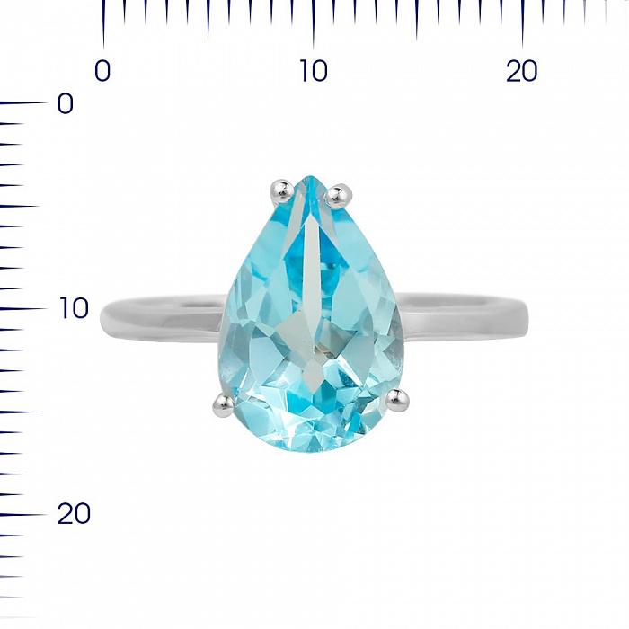 Серебряное кольцо Фанни с топазом 000081578