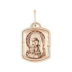Ладанка из красного золота Божия Матерь 000141337