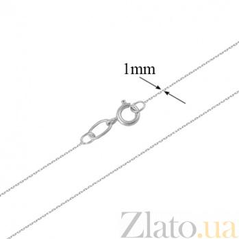 Золотая цепочка в белом цвете Якорька  LEL--12651