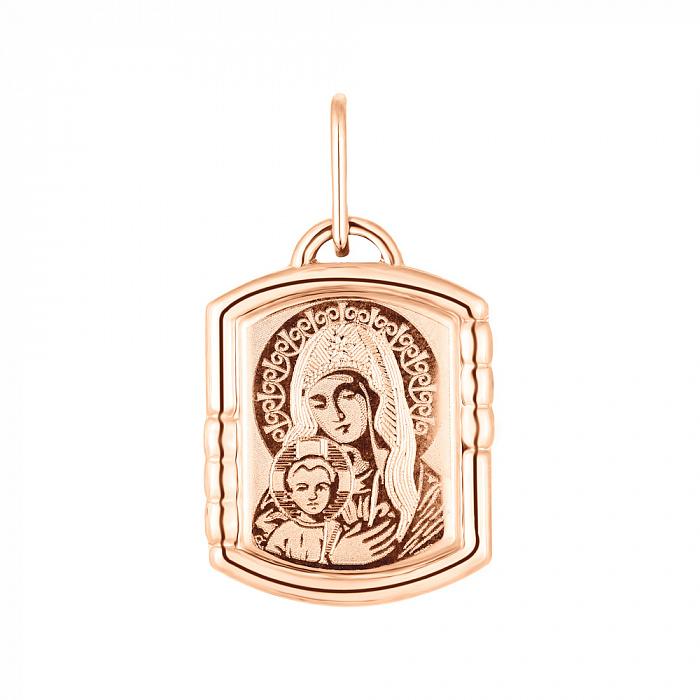 Ладанка из красного золота Божия Матерь 000141337 000141337