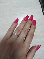 Помолвочное кольцо в белом золоте с бриллиантом 0,25ct 000070604