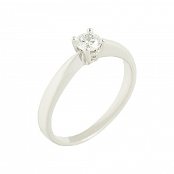 Золотое кольцо с бриллиантом Мария