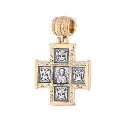 Серебряный крестик Истина с позолотой 000062525