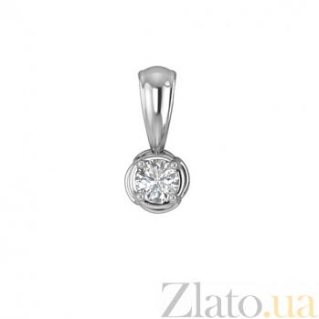 Золотой подвес в белом цвете с бриллиантом Антарес 000030728
