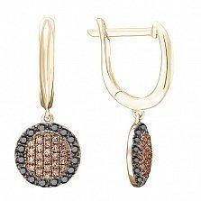 Серьги в красном золоте Оливия с бриллиантами