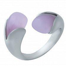 Серебряное кольцо Лаура с розовым кварцем