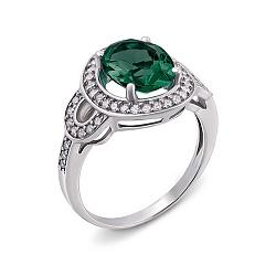 Кольцо Жюстин с зеленым кварцем