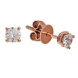 Золотые серьги с бриллиантами Веста