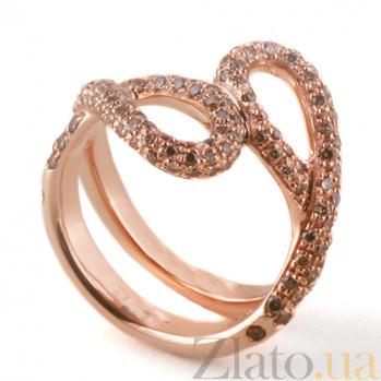 Кольцо Hausmann из розового золота с коньячными бриллиантами R-Hsm-R-40dc
