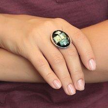 Серебряное кольцо Морское отражение с имитацией опала