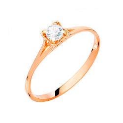Помолвочное кольцо из золота с фианитом Miracle