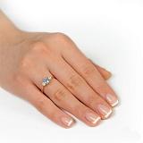 Золотое кольцо с топазом и цирконием Миледи