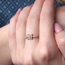 Золотое кольцо Фелисия с фианитами