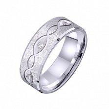 Золотое обручальное кольцо Винтажный стиль с фианитами
