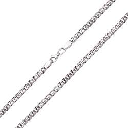 Серебряная цепь в плетении плоский бисмарк с алмазной гранью, 4мм 000105950