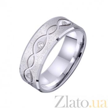 Золотое обручальное кольцо Винтажный стиль с фианитами TRF--422709