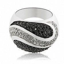 Серебряное кольцо Тандем с кристаллами Swarovski
