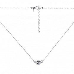 Серебряное колье с подвесками-шариками 000137032