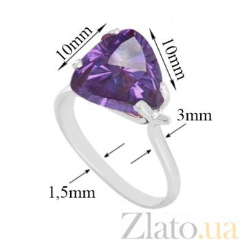 Кольцо из белого золота Сандра с александритом VLN--112-472-9*