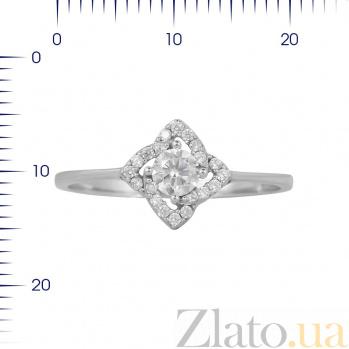 Кольцо из белого золота Елена кристаллами циркония 000081330