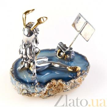 Серебряная статуэтка Зайка 855