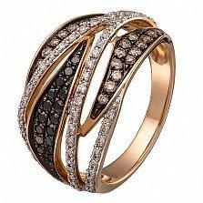 Кольцо в красном золоте Магия с бриллиантами