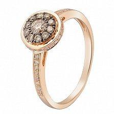 Кольцо в красном золоте Азалия с бриллиантами