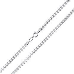 Серебряная родированная цепочка Мадонна 000052983