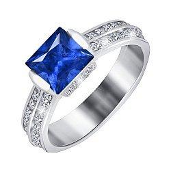 Серебряное кольцо с синим цирконием Скай 000028361
