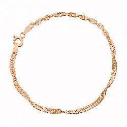 Серебряный браслет с позолотой, 3 мм 000027537
