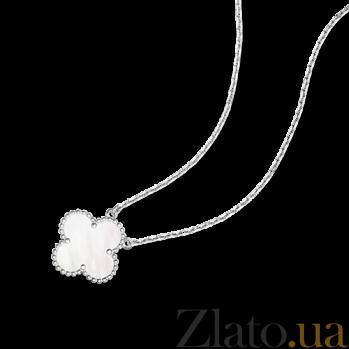 Колье из белого золота с белым перламутром Alhambra N-VCA-Algamra-W-nacre(W)