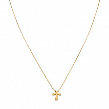Колье из желтого золота Крестик
