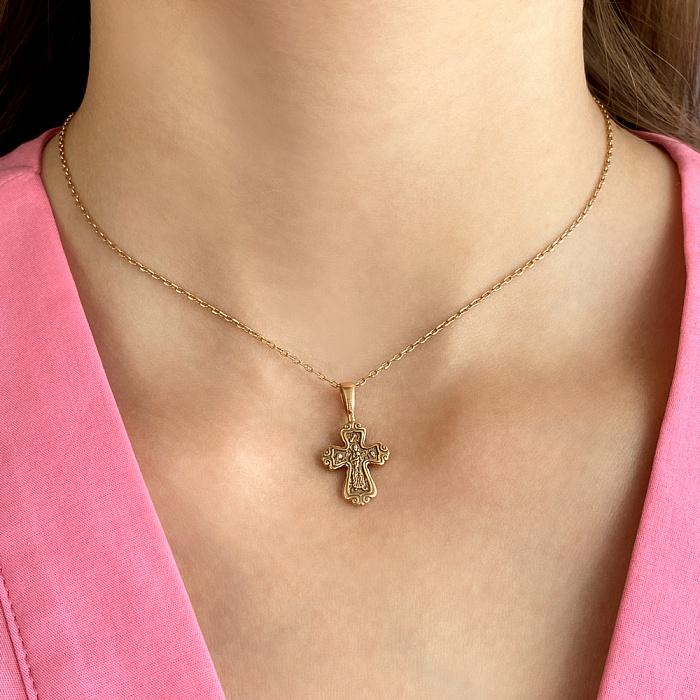 Крестик из красного золота 000143859 000143859