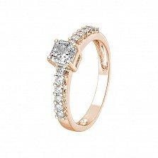 Кольцо в красном золоте Erika с бриллиантами