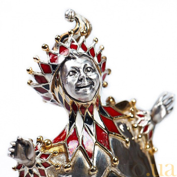 Серебряная статуэтка Карта Бубна 348