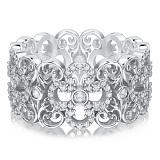 Кольцо из белого золота с бриллиантами Долина грез: Праздник Жизни