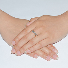 Обручальное кольцо Тринити из золотого и серебряных колец