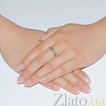 Обручальное кольцо Тринити из золотого и серебряных колец BGS--721/1зол