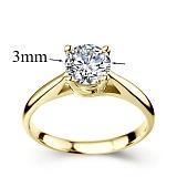 Кольцо из желтого золота с бриллиантом Эпоха любви, 3мм