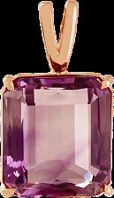 Золотой подвес Присцилла с аметистом