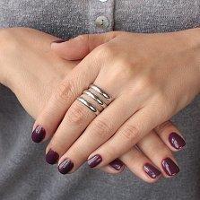 Серебряное кольцо на фалангу Серпантин