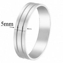 Золотое обручальное кольцо Моя верность, 5мм