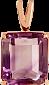 Золотой подвес Присцилла с аметистом VLN--114-1232-4