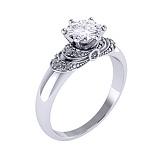 Золотое помолвочное кольцо Генуя с бриллиантами
