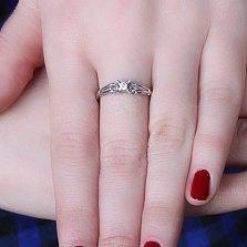 Серебряное кольцо Астрелла с цирконием