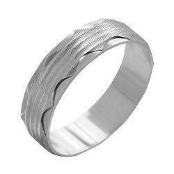 Серебряное обручальное кольцо 000039517