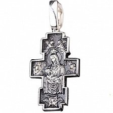 Серебряный крест Рождество с чернением