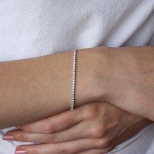 Золотой браслет Сианна в белом цвете c белыми фианитами
