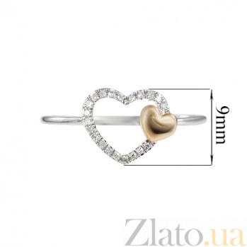 Кольцо из комбинированного золота с бриллиантами Истинная любовь 000026850