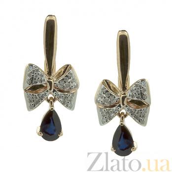 Серьги из красного золота с сапфирами и бриллиантами Грета ZMX--EDS-5555_K